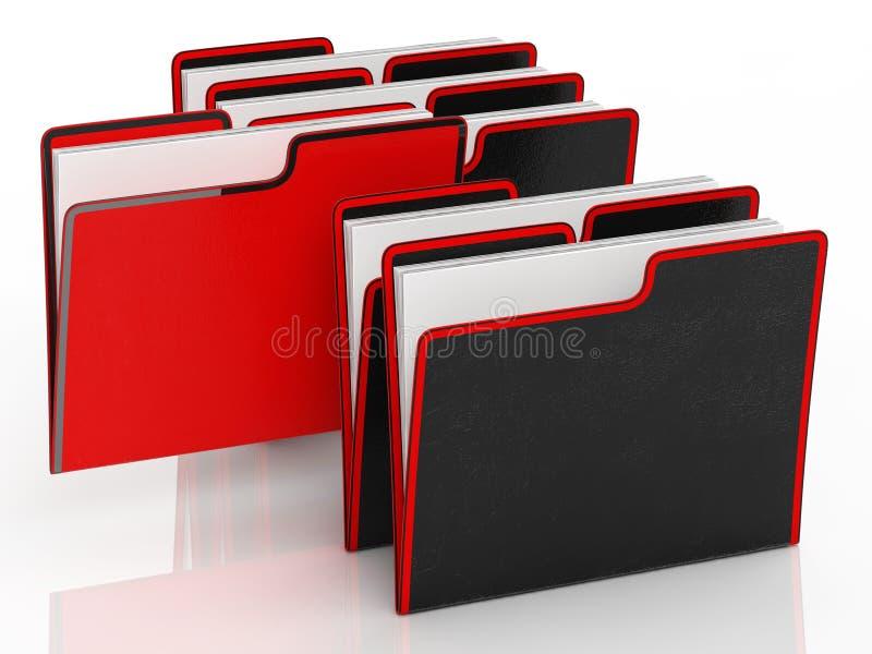 意味组织和文书工作的文件 库存例证