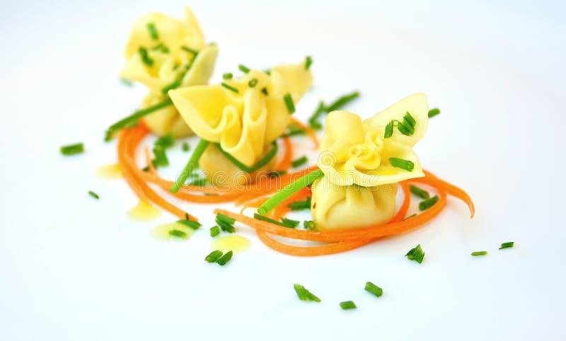 意大利人典型的食物:面团 库存照片