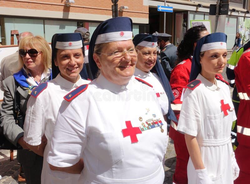 意大利人红十字会护士 免版税库存照片