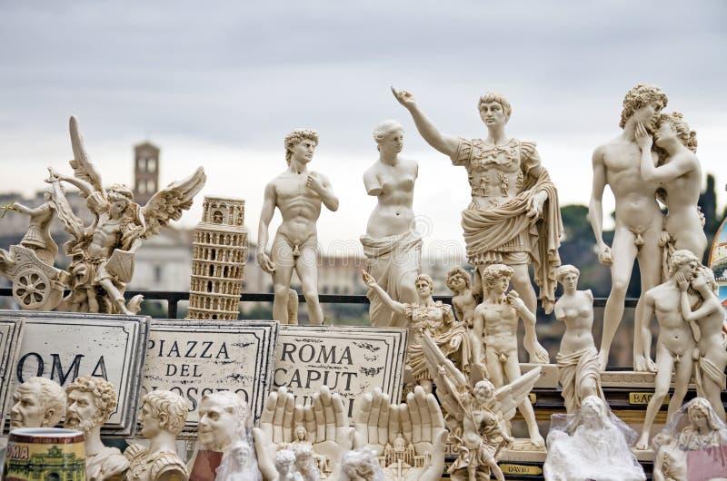 意大利人著名雕象和纪念碑 库存图片