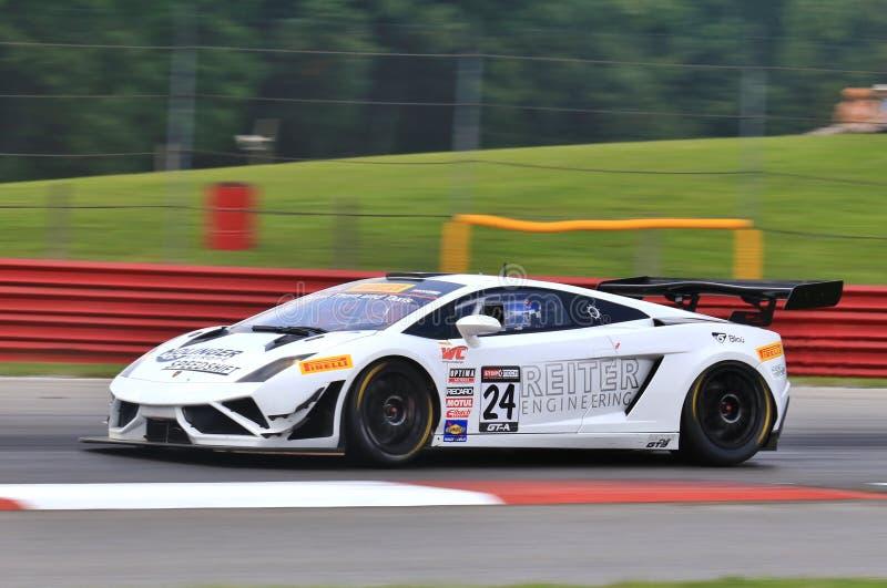 意大利人Lamborghini竟赛者 免版税库存照片