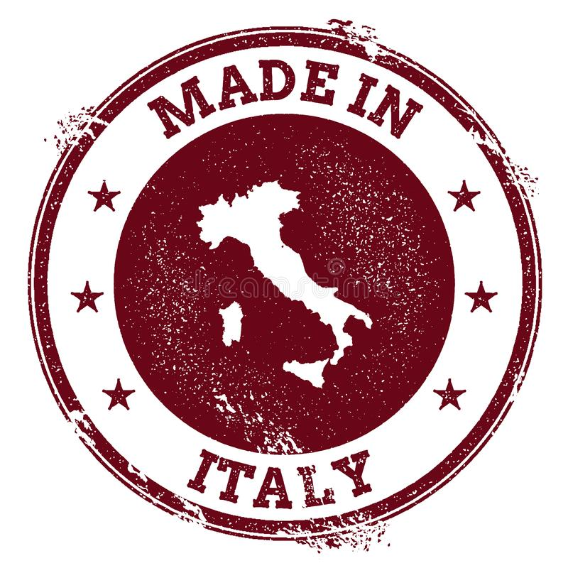 意大利传染媒介封印 库存例证