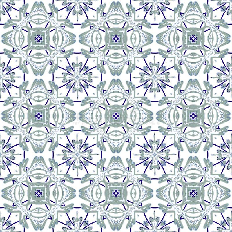 意大利传统装饰品,地中海无缝的样式,瓦片设计,传染媒介例证 皇族释放例证