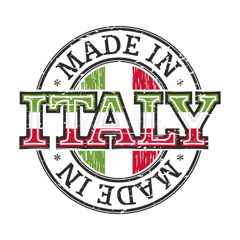 意大利制造 库存例证