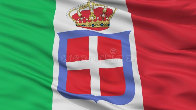 意大利君主制旗子特写镜头视图 皇族释放例证