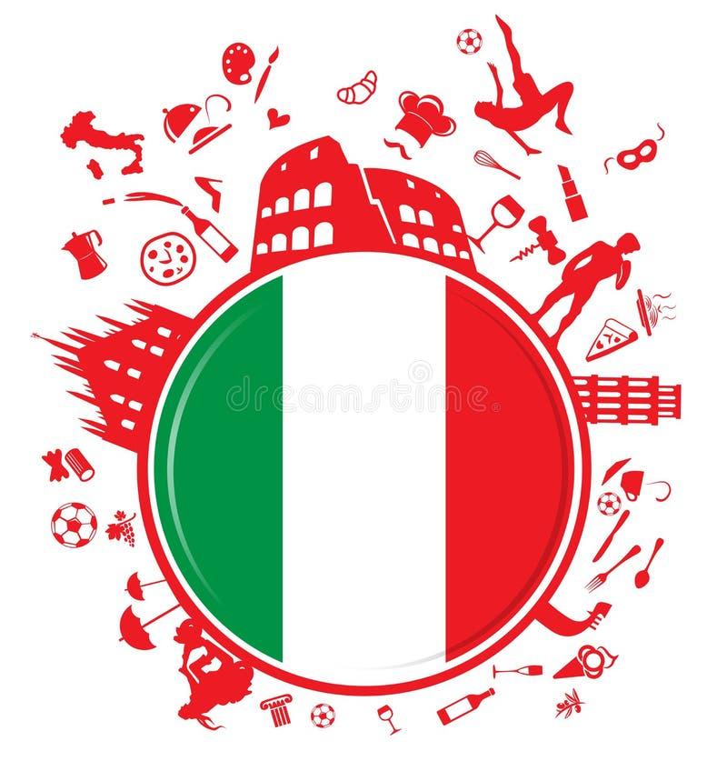意大利圈子背景 向量例证