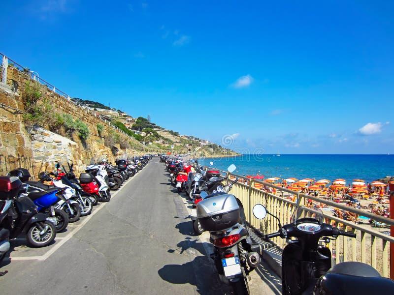 意大利圣雷莫海滩 免版税库存图片