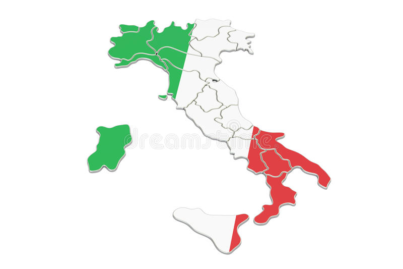 意大利地图, 3d翻译图片