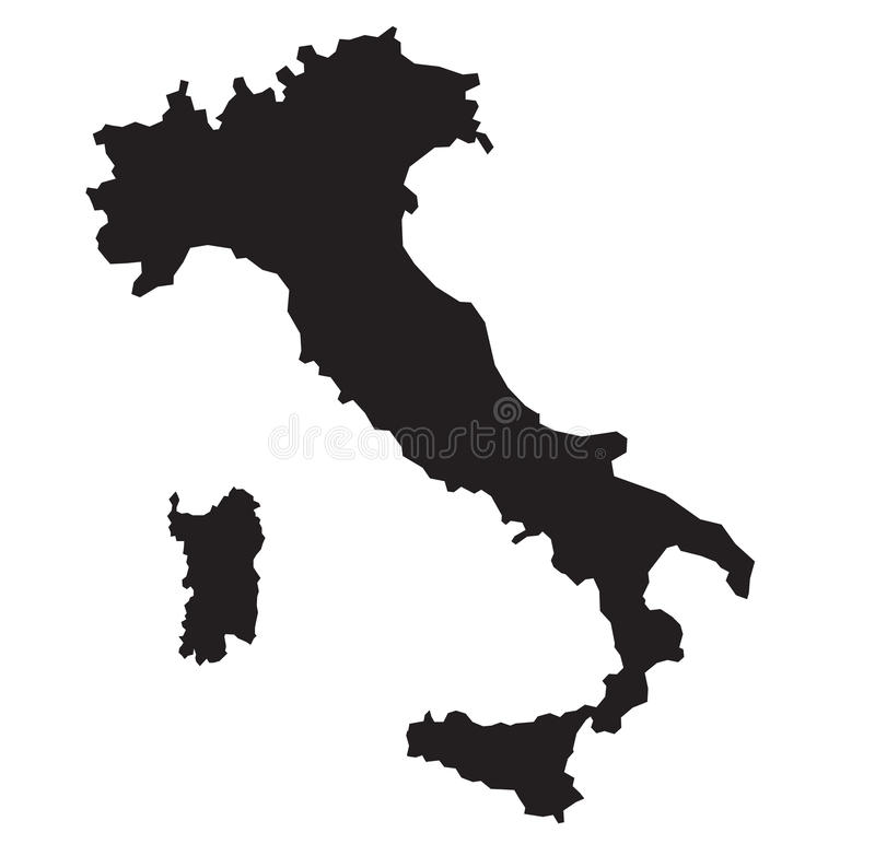 意大利地图 向量例证