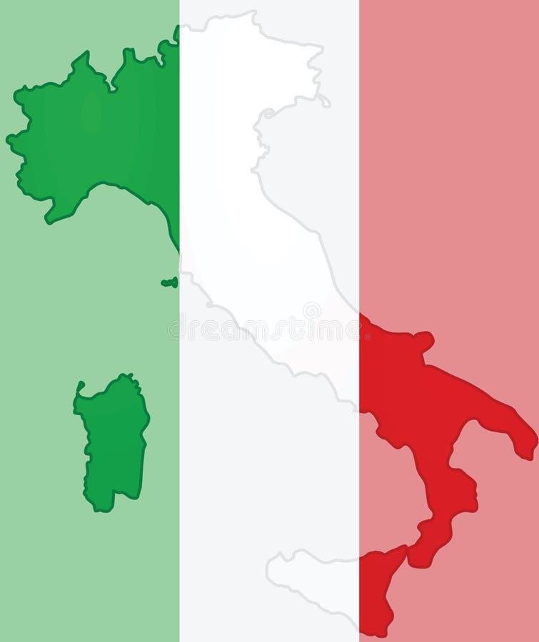 意大利地图 皇族释放例证