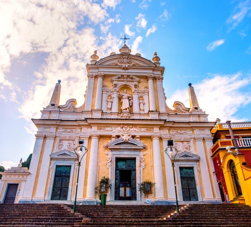 意大利地标利古里亚圣玛格丽塔教堂 免版税库存图片
