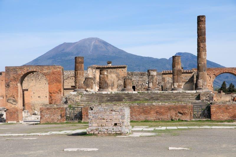 意大利庞贝城 库存照片