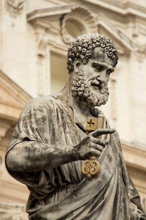 意大利彼得圣徒雕象梵蒂冈 免版税库存图片