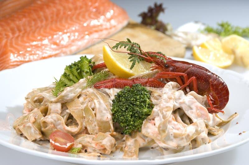 意大利意大利面食海鲜 图库摄影