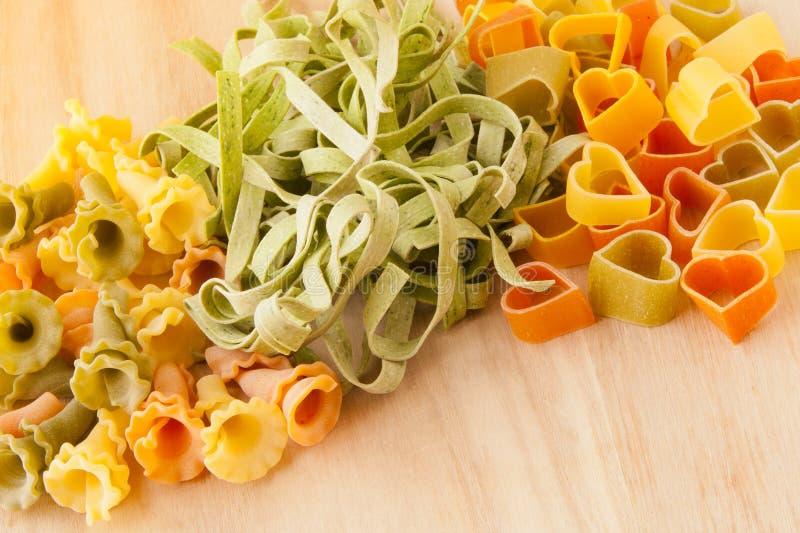 意大利意大利面食类型和形状种类。 图库摄影
