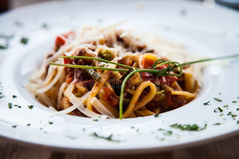意大利意大利面食-意大利细面条 免版税库存照片