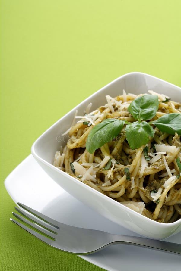 意大利意大利面食pesto意粉 库存照片