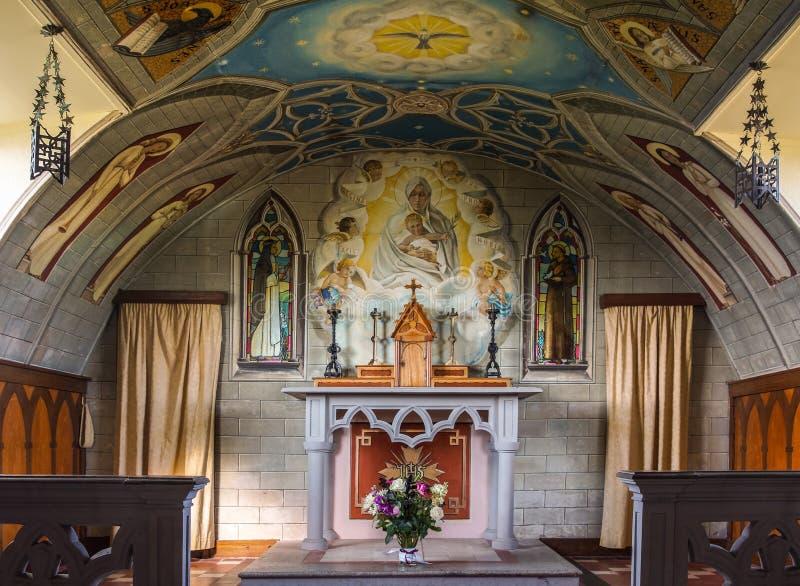 意大利教堂圣坛和法坛Orkneys的,苏格兰 免版税图库摄影
