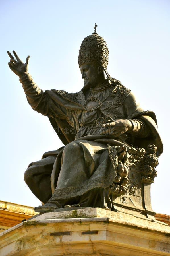 意大利教皇雕象v 免版税图库摄影