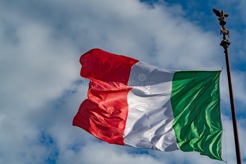 意大利旗子意大利绿色白色和红色 库存照片