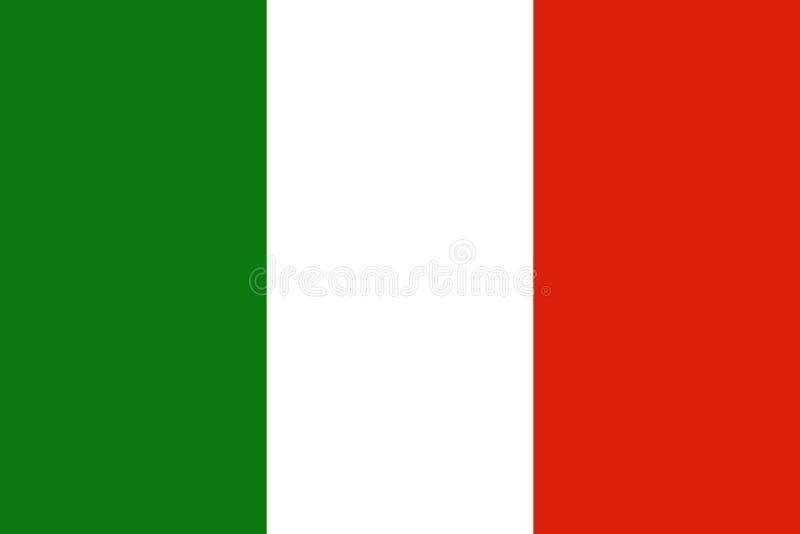 意大利旗子意大利 向量例证
