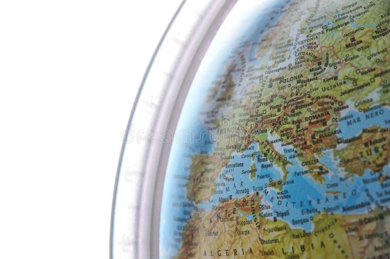 意大利映射世界 免版税库存照片
