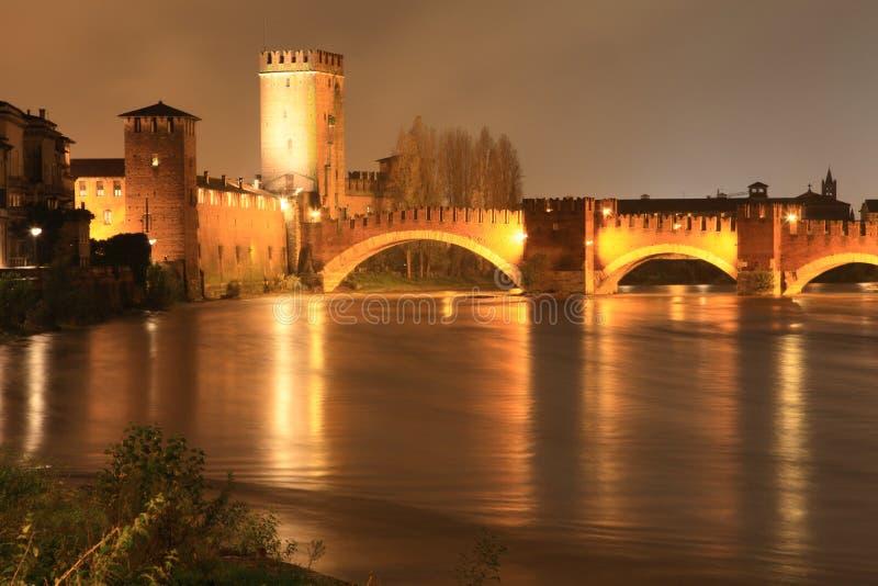 意大利晚上维罗纳 图库摄影