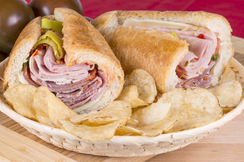 意大利样式三明治 图库摄影
