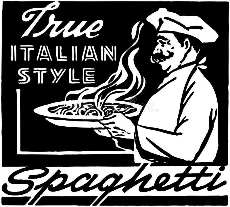 意大利样式意粉 向量例证