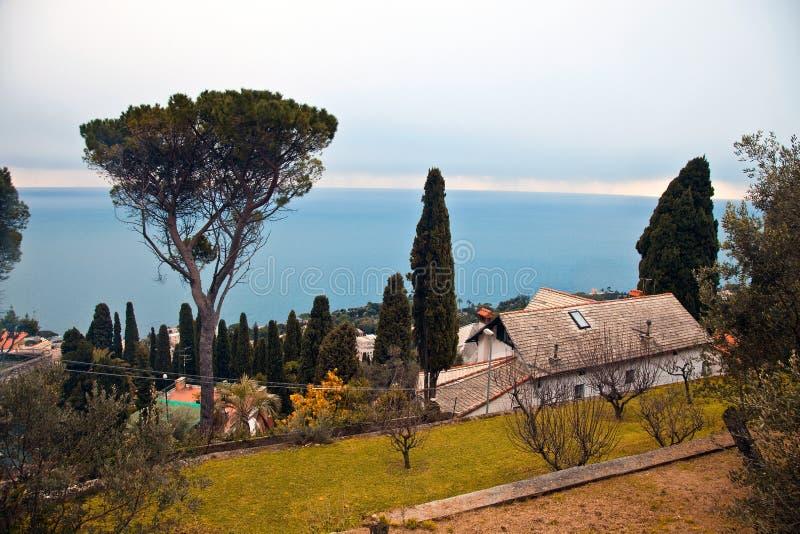 意大利横向里维埃拉 免版税库存图片