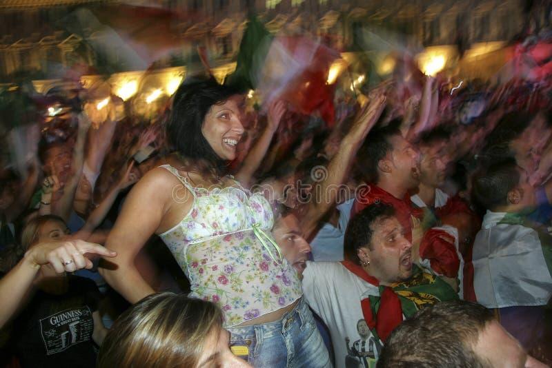 意大利橄榄球09个july2006的世界冠军 免版税库存图片