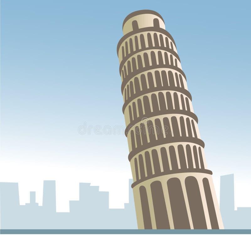 意大利比萨塔 皇族释放例证
