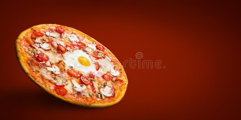 意大利比萨店菜单大模型 免版税库存图片