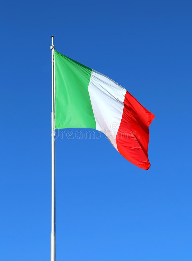 意大利沙文主义情绪与蓝天 库存照片