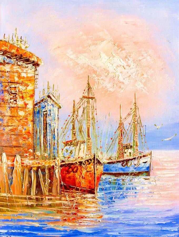 意大利油画威尼斯 库存例证