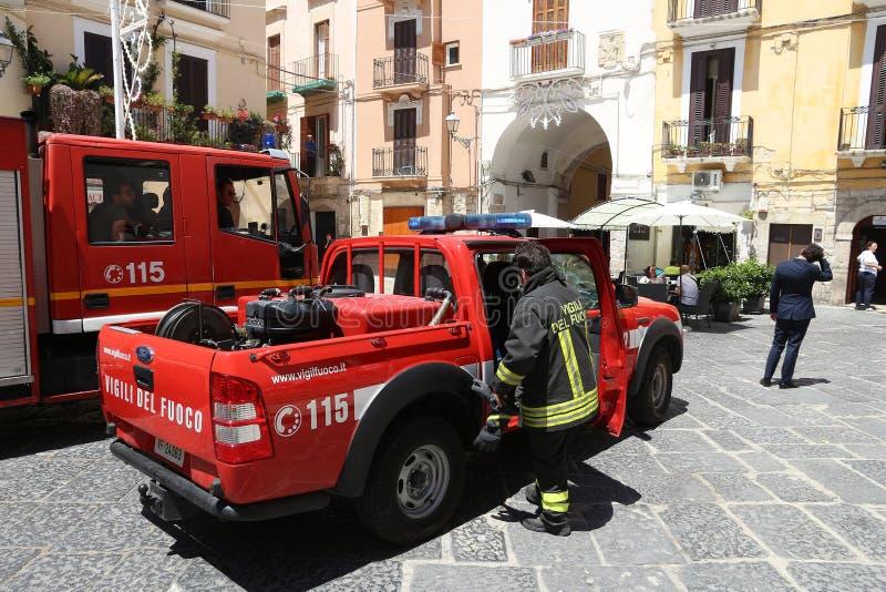意大利消防队员 免版税库存图片