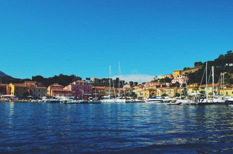 意大利港口 免版税库存照片
