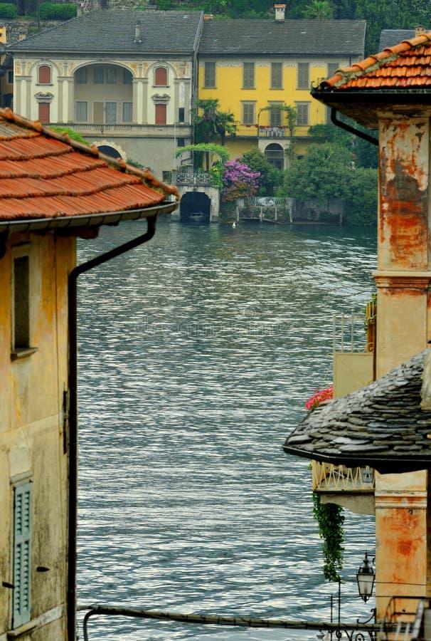 意大利湖 免版税库存图片