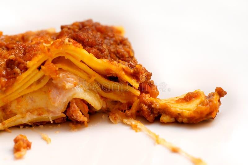 意大利烤宽面条 库存照片