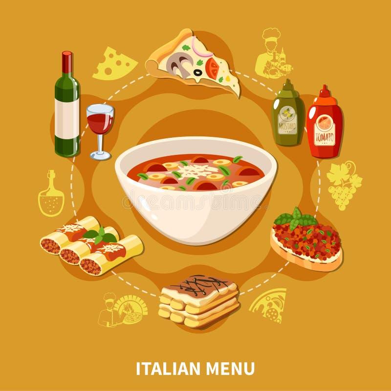 意大利烹调集合 皇族释放例证