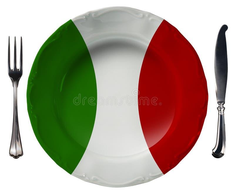 意大利烹调-板材和利器 库存例证