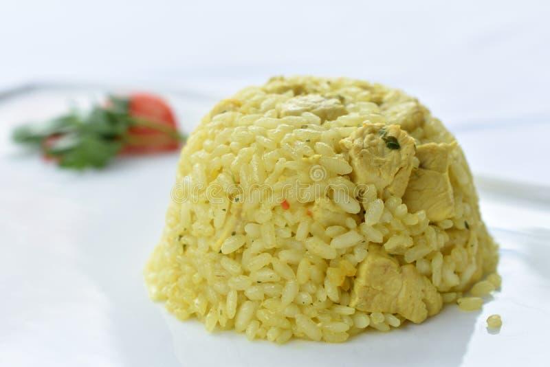 意大利煨饭用姜黄 免版税图库摄影