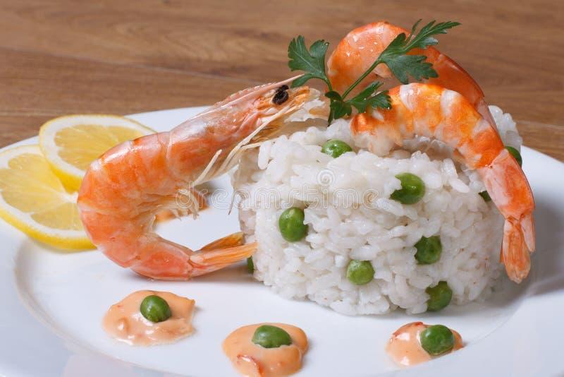 意大利煨饭用海鲜 库存图片