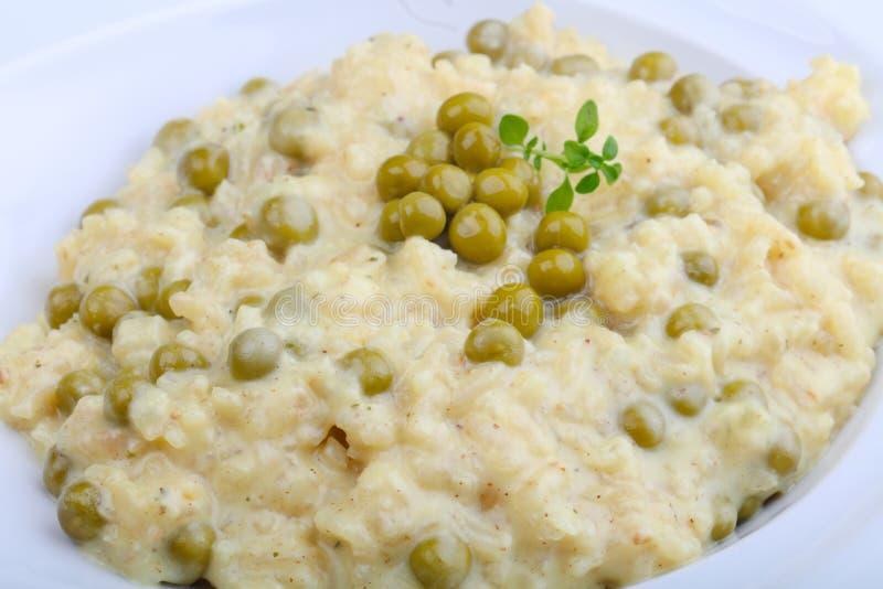 意大利煨饭用绿豆 库存图片