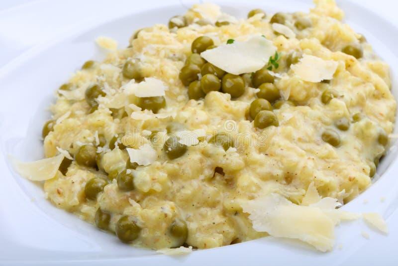 意大利煨饭用绿豆 免版税库存照片