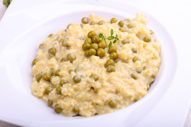 意大利煨饭用绿豆 图库摄影