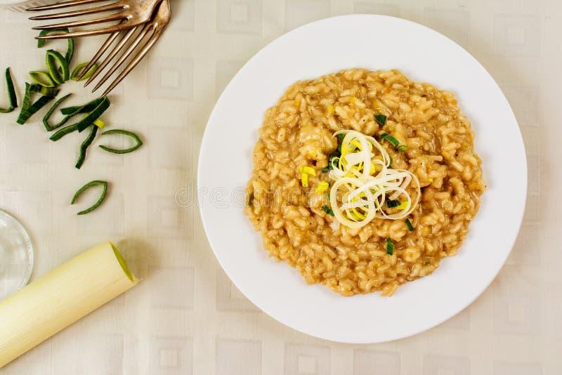 意大利煨饭用韭葱 库存图片