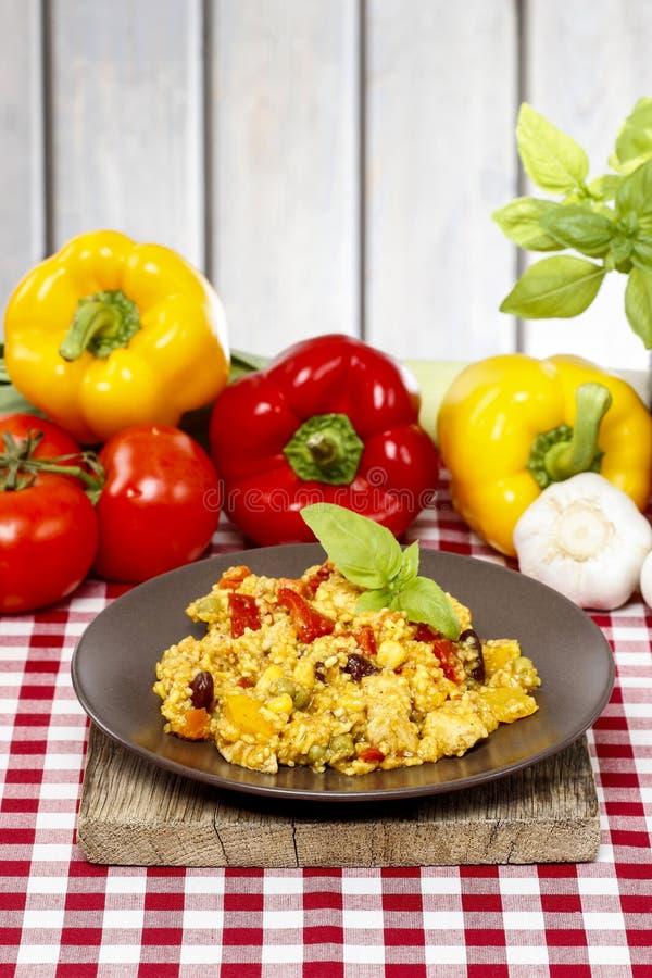 意大利煨饭,普遍的意大利盘 免版税库存照片