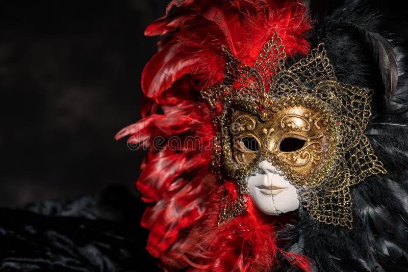 意大利狂欢节威尼斯式面具 神奇事件,党 库存图片
