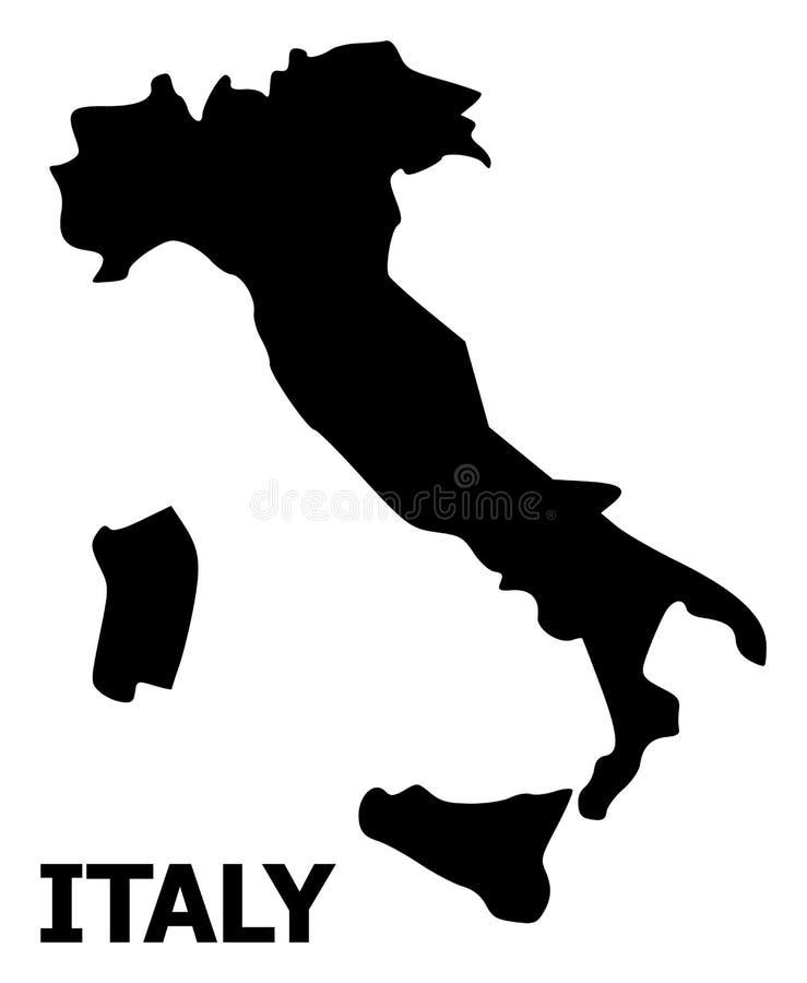 意大利的传染媒介平的地图有名字的 皇族释放例证